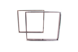 Tischgestell Rohstahl TR80k-600 breit Tischuntergestell Tischkufe Kufengestell (1 Rahmen)