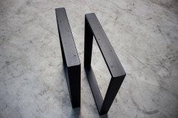 Tischgestell schwarz matt TR80sms-500 breit Tischuntergestell Tischkufe Kufengestell (1 Rahmen)