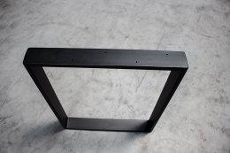 Tischgestell schwarz matt TR80sms-600 breit Tischuntergestell Tischkufe Kufengestell (1 Rahmen)