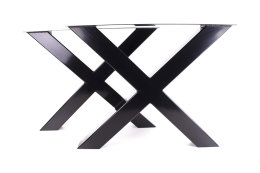 Tischgestell schwarz TUXs-990 breit Tischuntergestell Tischkufe Kufengestell (1 Paar)