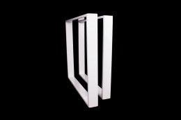 Tischgestell weiß TR80w-600 breit Tischuntergestell Tischkufe Kufengestell (1 Rahmen)