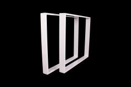 Tischgestell weiß TR80w-700 breit Tischuntergestell Tischkufe Kufengestell (1 Rahmen)