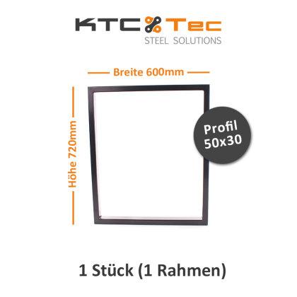 Tischgestell schwarz TRGs-600 breit Tischuntergestell Tischkufe Kufengestell (1 Rahmen)