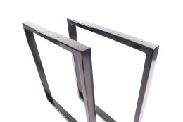 Tischgestell schwarz TRGs-800 breit Tischuntergestell Tischkufe Kufengestell (1 Rahmen)