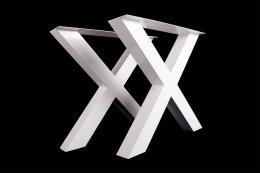 Tischgestell weiß TUXw-590 breit Tischuntergestell Tischkufe Kufengestell (1 Paar)