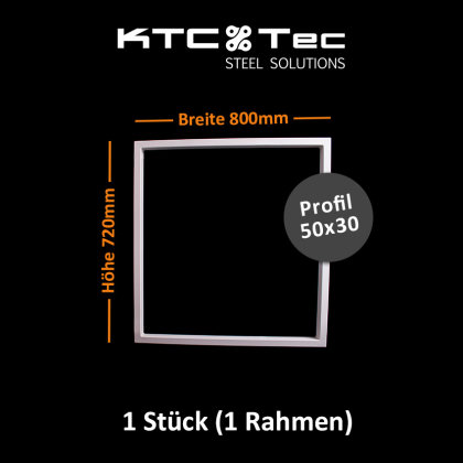 Tischgestell weiß TRGw-800 breit Tischuntergestell Tischkufe Kufengestell (1 Rahmen)