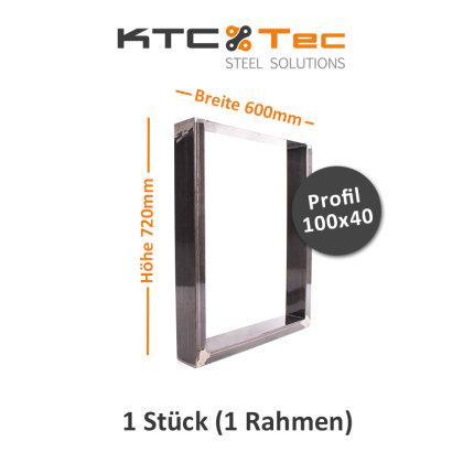 Tischgestell Rohstahl TU100k-600 breit Tischuntergestell Tischkufe Kufengestell (1 Rahmen)