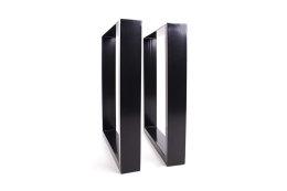 Tischgestell schwarz TU100s-600 breit Tischuntergestell Tischkufe Kufengestell (1 Rahmen)