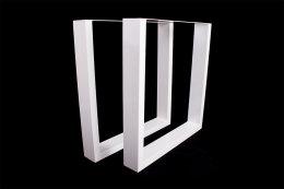 Tischgestell weiß TU100w-600 breit Tischuntergestell Tischkufe Kufengestell (1 Rahmen)