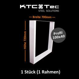 Tischgestell weiß TU100w-700 breit...