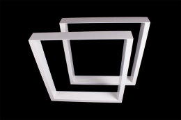 Tischgestell weiß TU100w-800 breit Tischuntergestell Tischkufe Kufengestell (1 Rahmen)