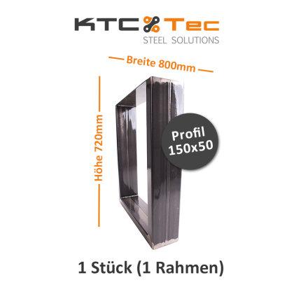 Tischgestell Rohstahl TUGk-800 breit Tischuntergestell Tischkufe Kufengestell (1 Rahmen)